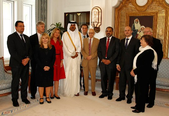 Lord Ahmed & European Parliamentarians meet Crown Prince Qatar