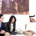 Mohammed bin Zayed with Kim Hwang-sik