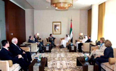 Sheikh Abdullah receives U. S. Congress Delegation & Int'l Quartet Envoy