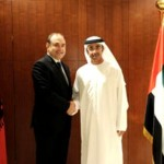 Sheikh Abdullah with Edmond Haxhinasto