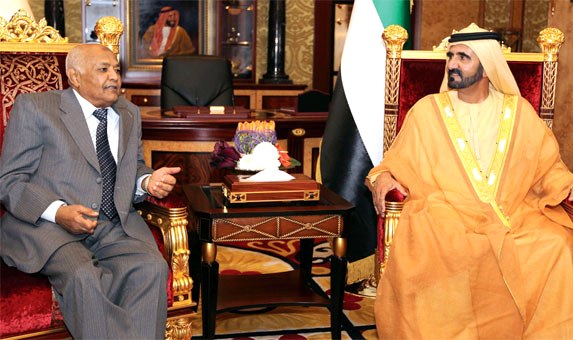 Sheikh Mohammed receives Yemeni PM