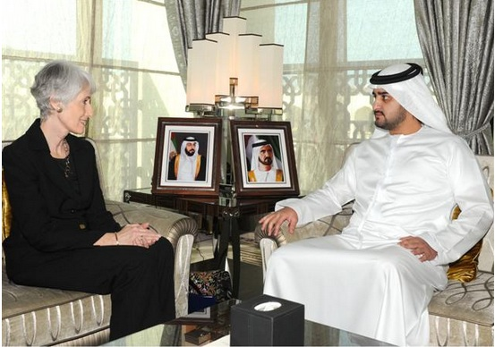 Sheikh Makhtoum receives Sherman