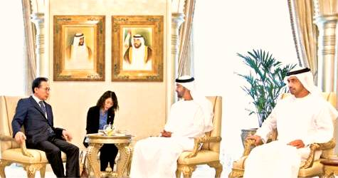 Sheikh Mohammed holds talks with South Korean President
