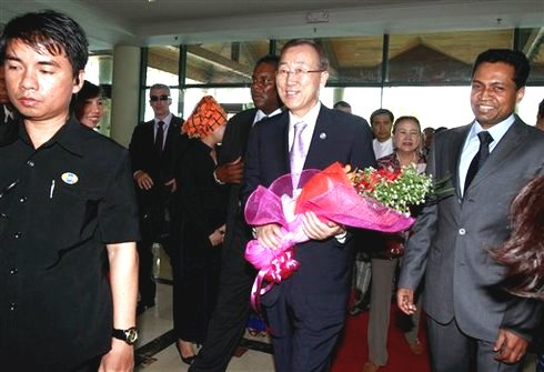 Ban Ki-moon makes historic visit to Burma