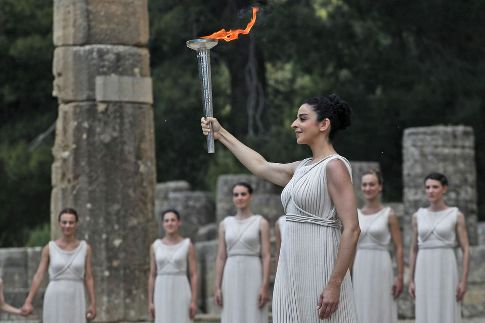 Olympic flame lit for London Games 2012