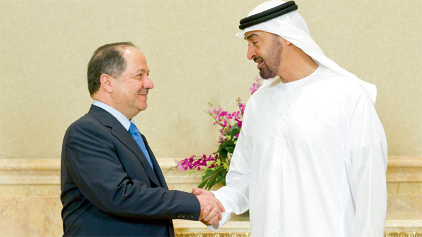 Sheikh Mohammed hold talks with Masoud Barazani