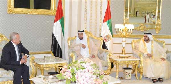 President Khalifa holds talks with Lebanese President