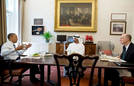 Sheikh Zayed discuss Relations with President Obama