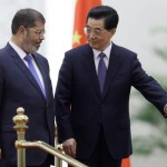 President Hu meets President Mursi