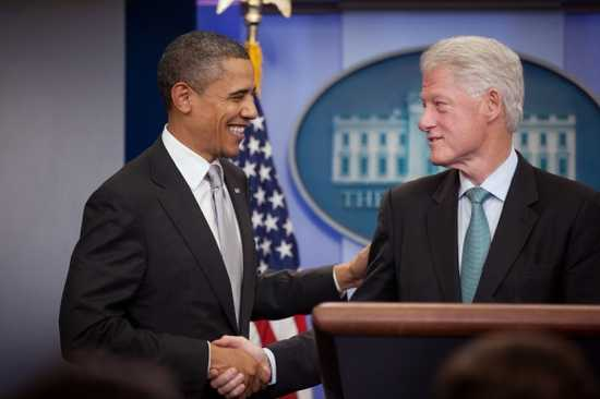 Bill Clinton supports Obama's Presidential Bid