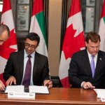 Sheikh Abdullah and John Baird Sign Peaceful Nuclear Energy Agreement