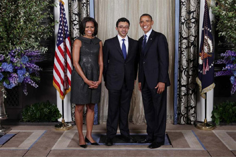Sheikh Abdullah attends Obama's Dinner Banquet