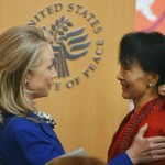 Suu Kyi meets Clinton
