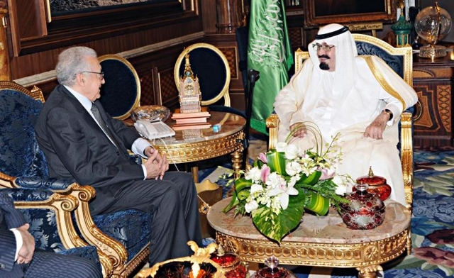 Brahimi Meets Saudi King