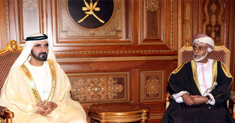Sheikh Mohammed and Sultan Qaboos hold talks