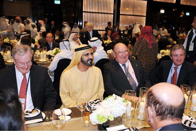 Sheikh Mohammed attends banquet for 500 Forbes Global CEOs