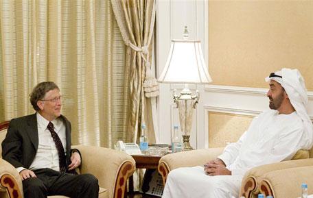 Sheikh Mohammed bin Zayed Receives Bill Gates