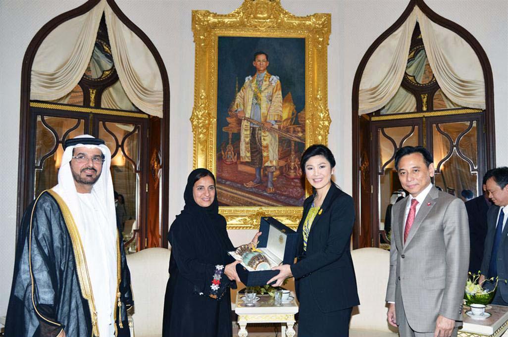 Sheikha Luban Al Qasimi Meets Thailand's PM