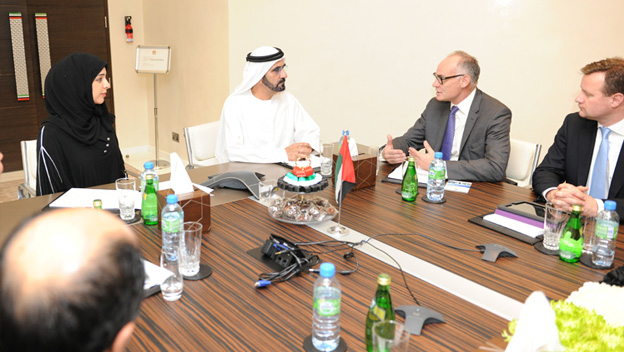 Sheikh Mohammed Meets UK Parliament Delegation