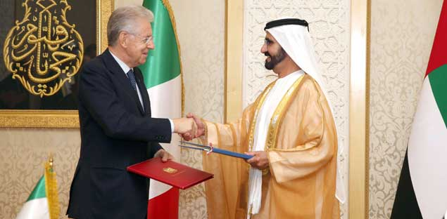 Sheikh Mohammed Receives Italian PM