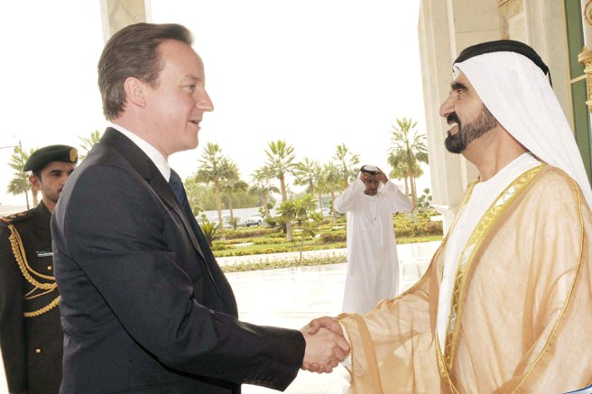 Sheikh Mohammed hold talks with PM Cameron