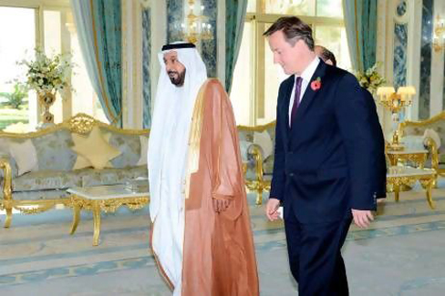 UAE President receives British Prime Minister